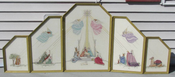 cross stitch nativity