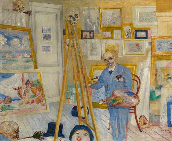 James Ensor, The Skeleton Painter, 1896