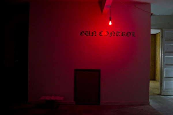 An installation at Pierre Krause's recent show at the Gimp Room, Houston