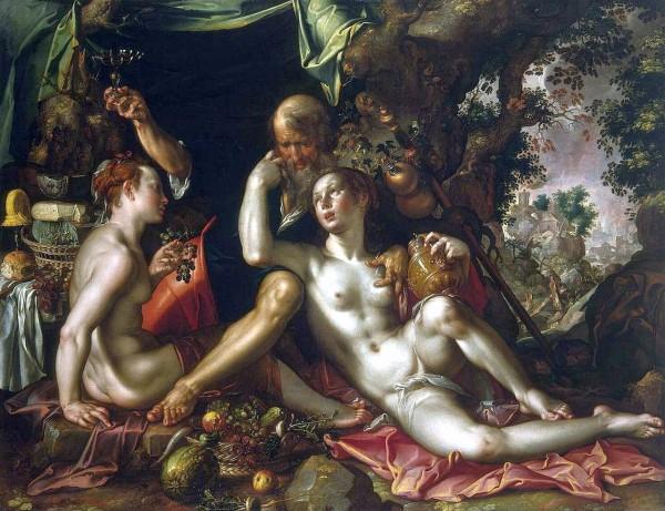 Joachim Wtewael, Lot and His Daughters, 1600