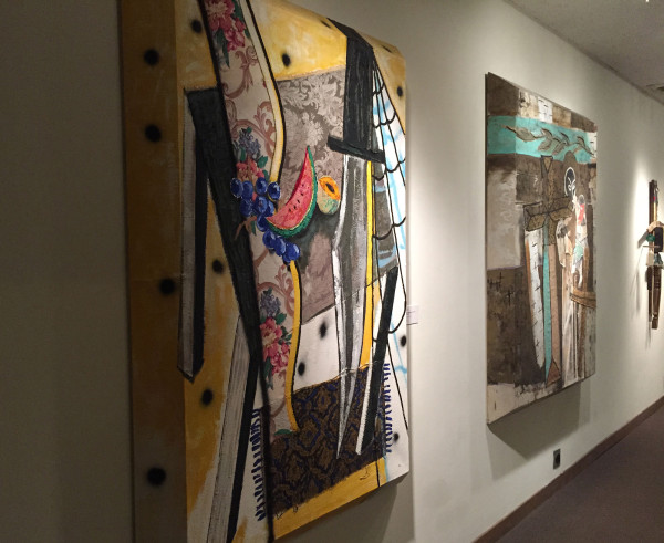 Side view of Ken Luce paintings
