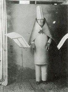 Hugo Ball performing at Cabaret Voltaire in 1916
