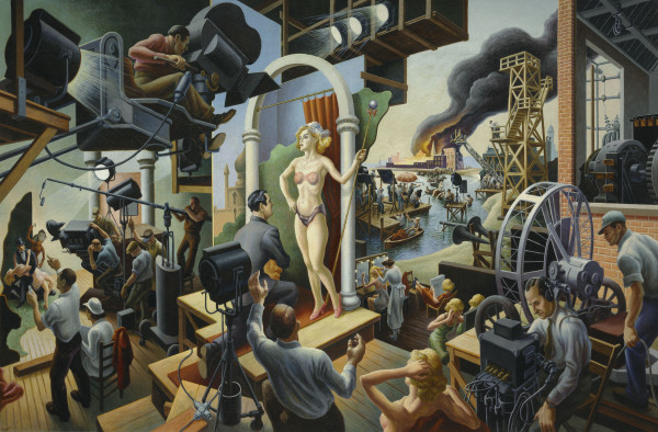Thomas Hart Benton Hollywood, 1937–38 Oil on canvas 56 × 84 in. (142.2 × 213.4 cm) The Nelson-Atkins Museum of Art, Kansas City, Missouri, Bequest of the artist, F75-21/12 Photo by Jamison Miller. Art © T.H. Benton and R.P. Benton Testamentary Trusts/UMB Bank Trustee/Licensed by VAGA, New York, N
