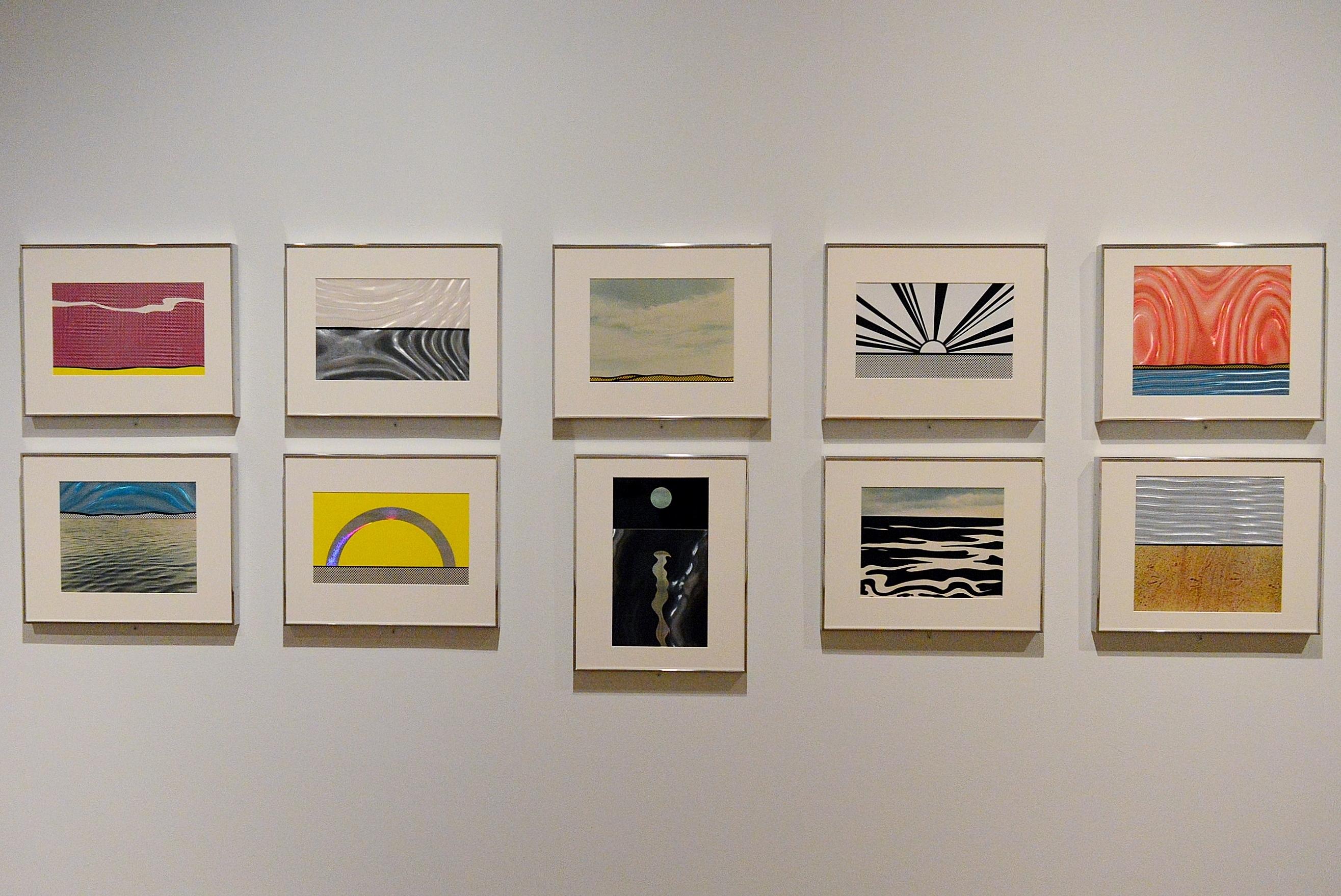 Rarely seen screenprints from Roy Lichtenstein's portfolio Ten Landscapes.