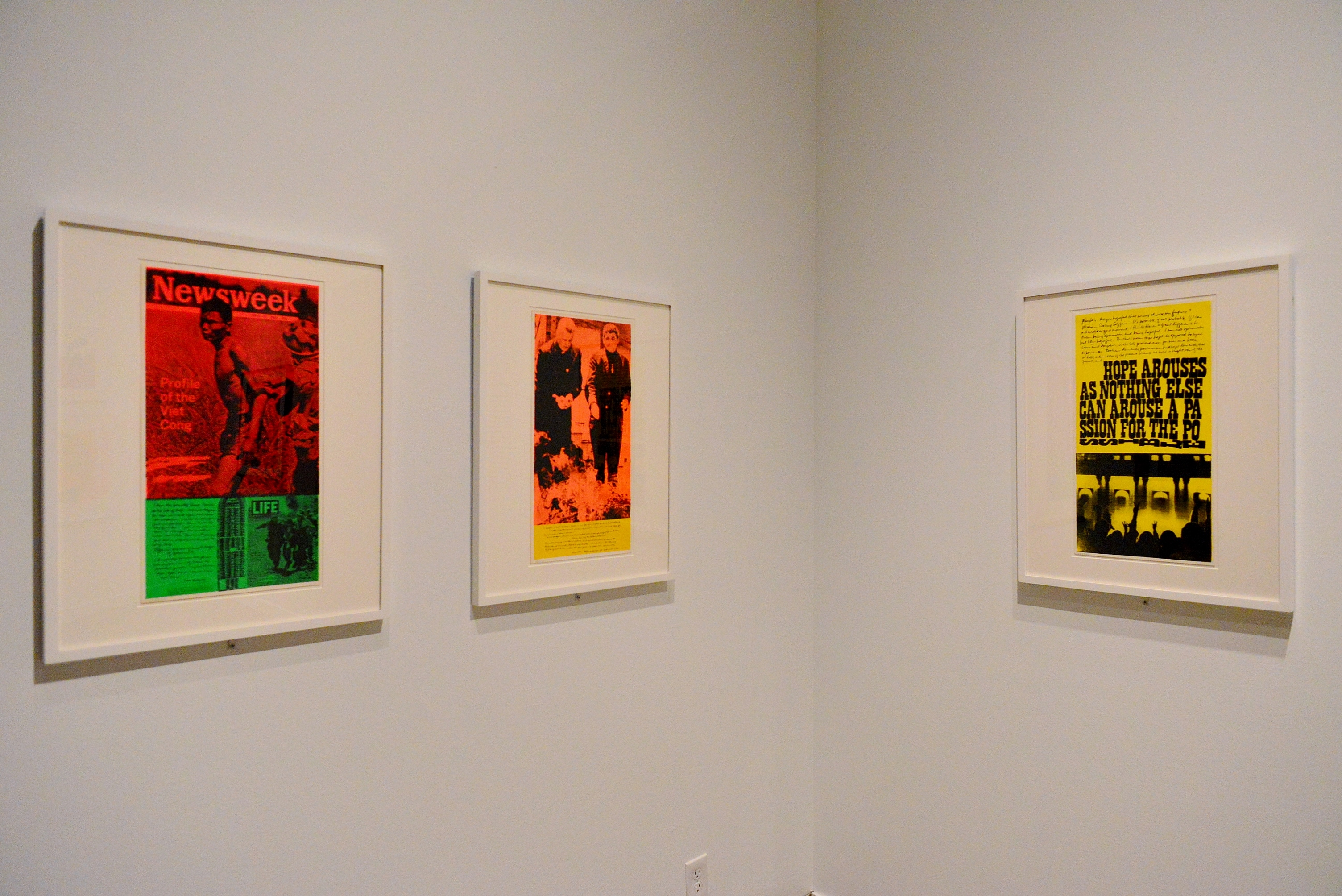 news of the week, phil and dan, a passion for the possible (l-r) by Corita Kent