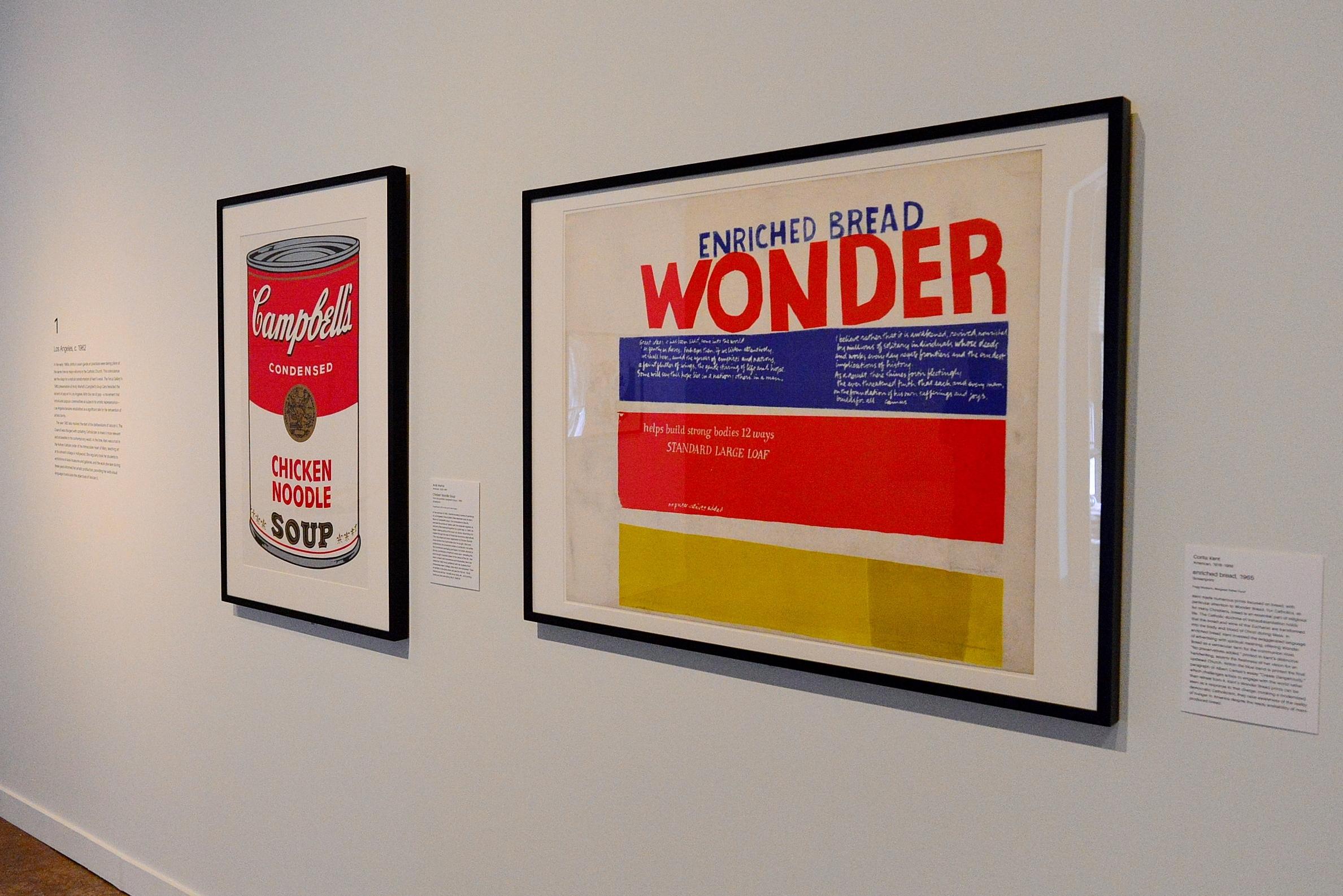 Warhol's Chicken Noodle Soup alongside Kent's enriched bread.