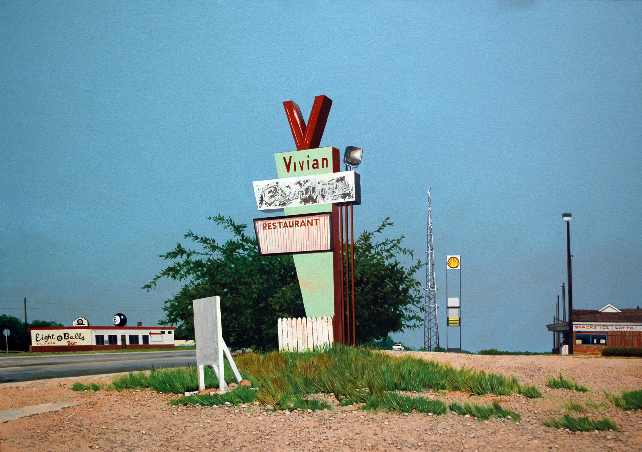 Daniel Blagg, Vivian's, oil on canvas.