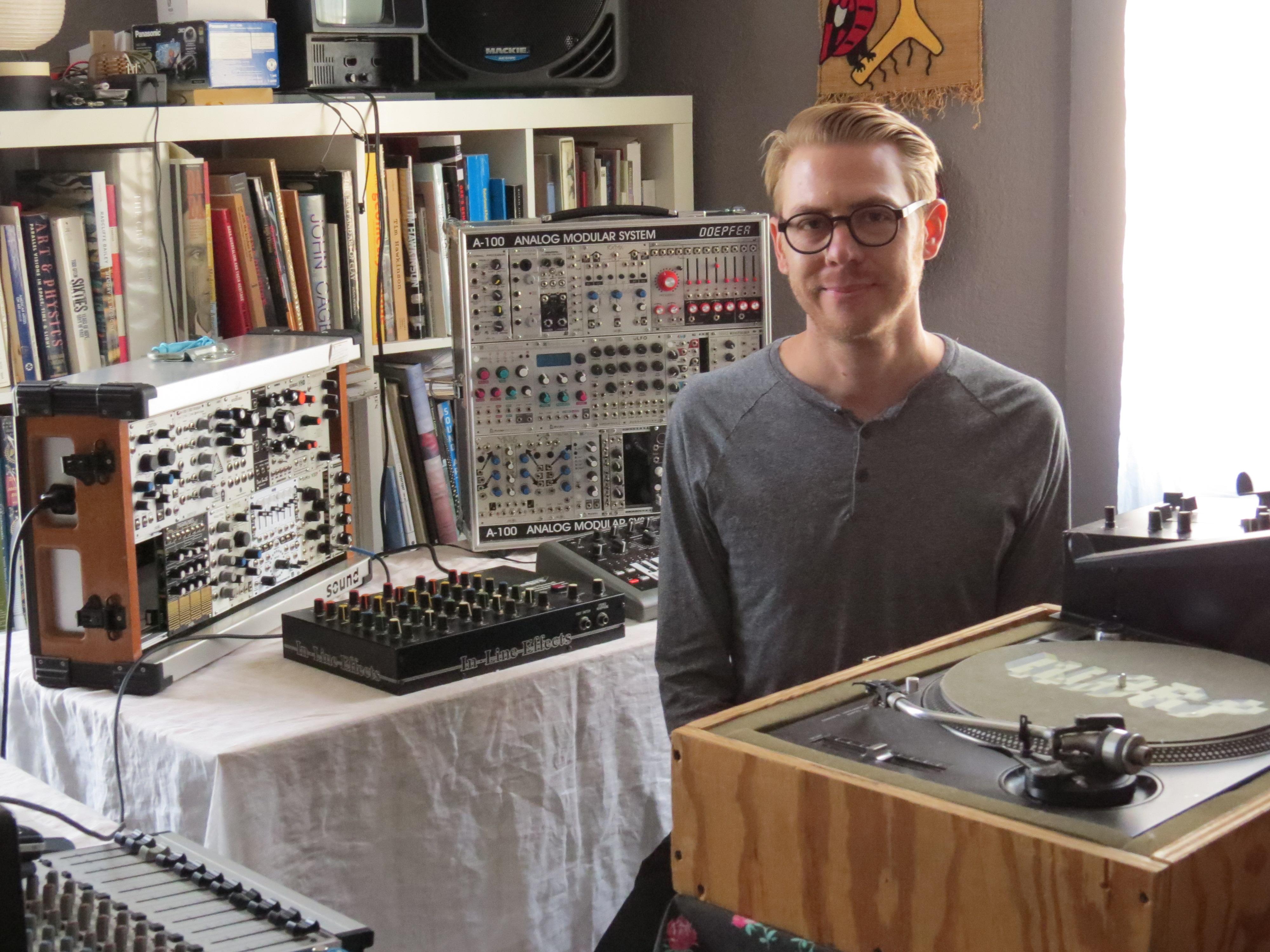 Justin Boyd in his studio. (Photo: David S. Rubin)