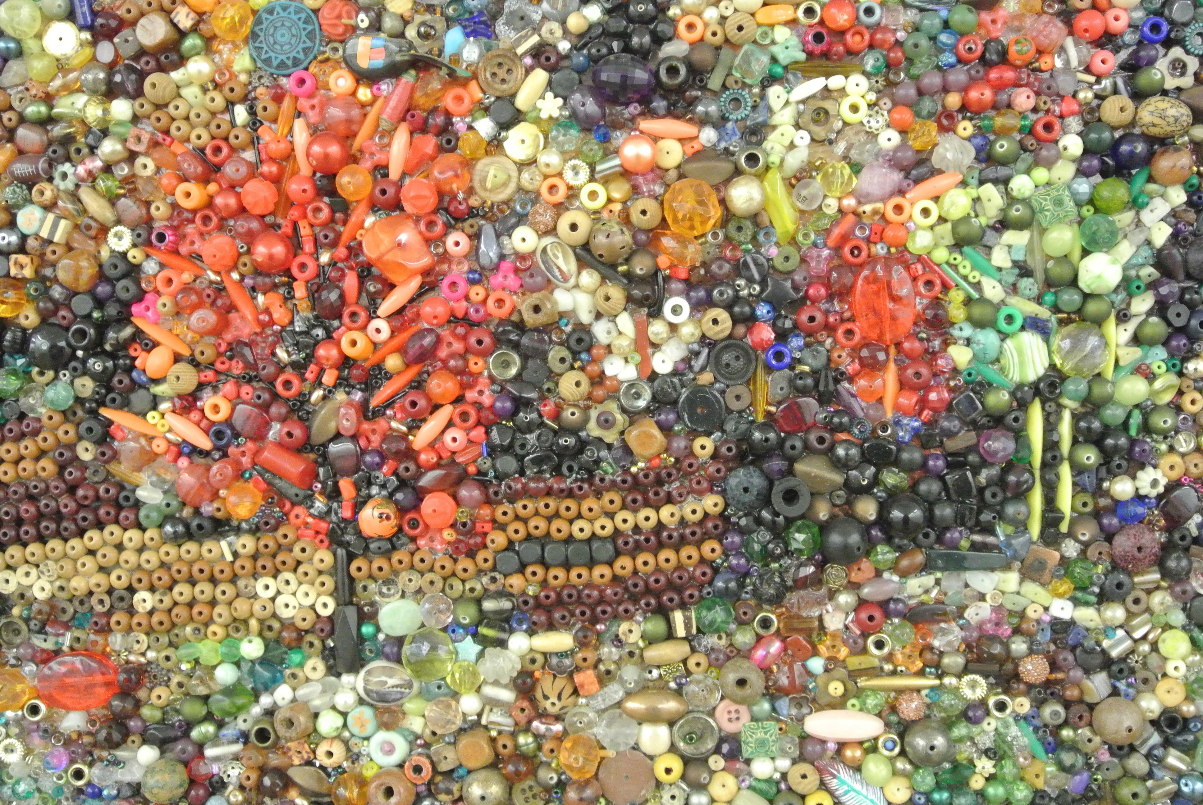 Kelli Holmes, Beadscape (detail).