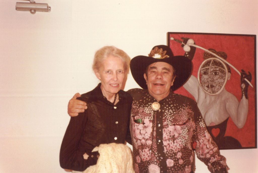 Dominique de Menil with William Copley, Institute of the Arts at Rice University, 1979
