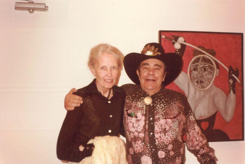 Dominique de Menil with William Copley, Institute of the Arts at Rice University, 1979