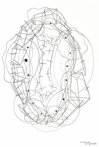 Graphite Drawing's, James Surls 2014