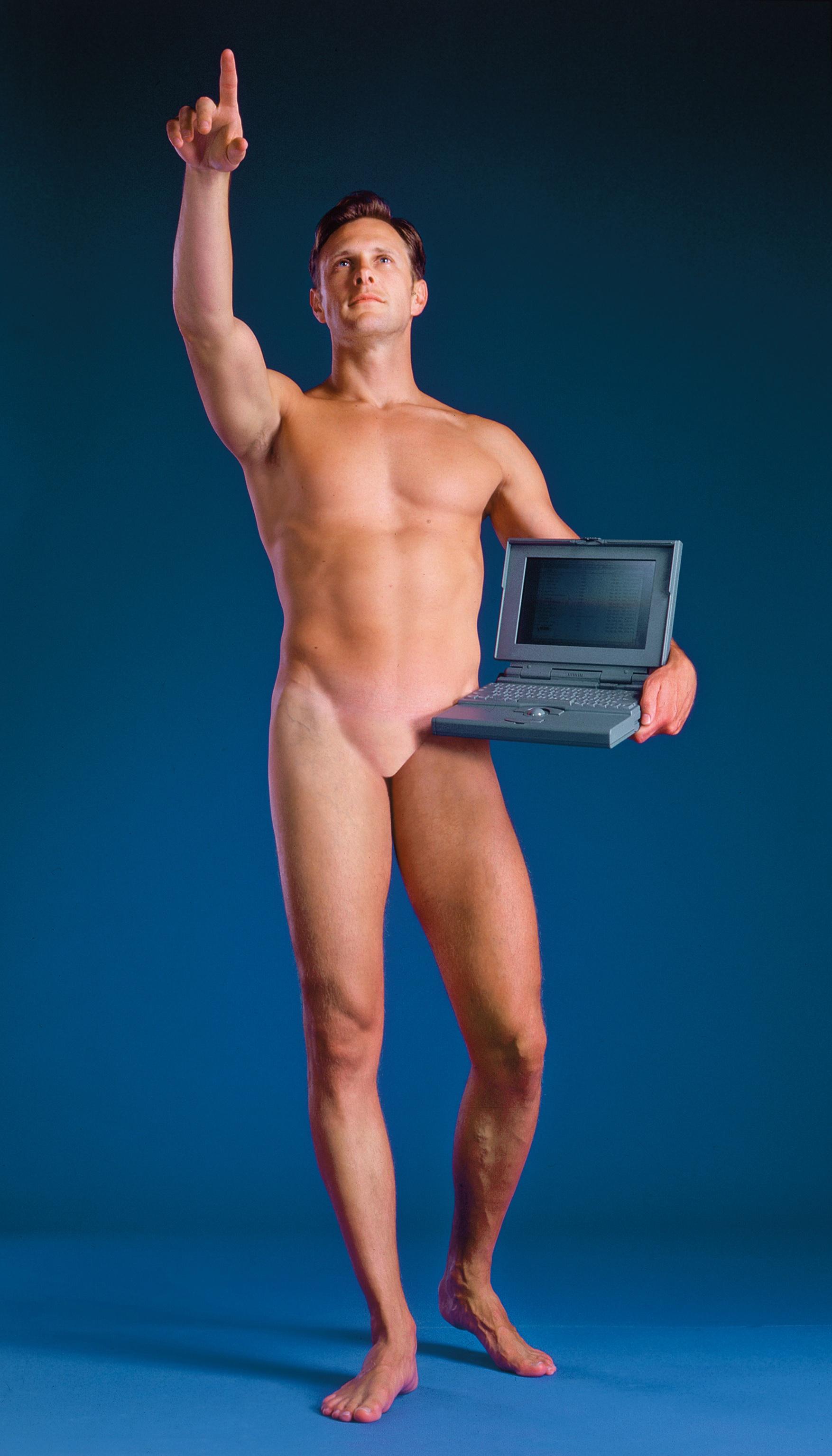 AZIZ and CUCHER , Man with a Computer, 1992