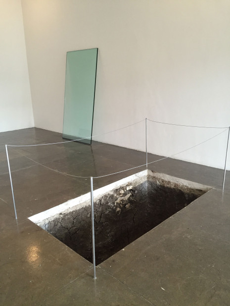 Adriana Corral, Under Erasure Sous Rature, 2016, installation view