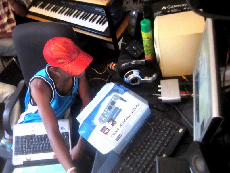 Luka in the studio.