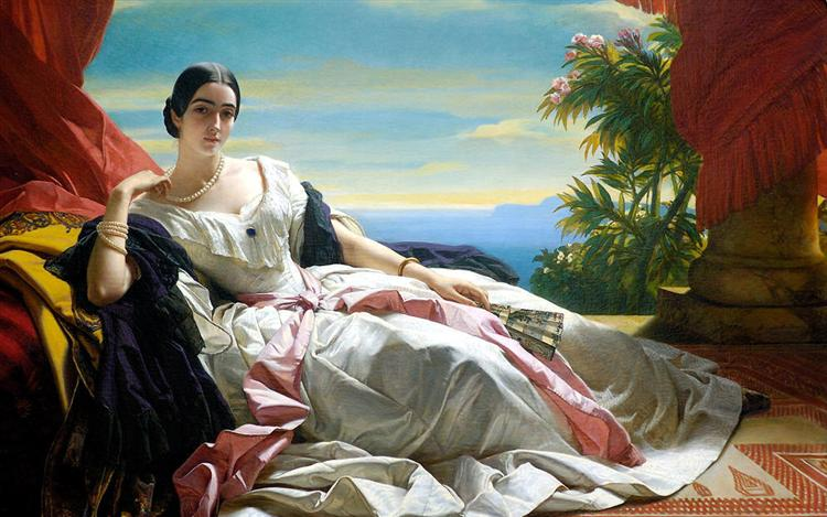 Franz X. Winterhalter, Portrait of Leonilla, Princess of Sayn Wittgenstein, 1843