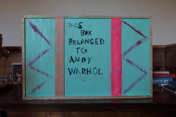 This box belongs to Andy Warhol