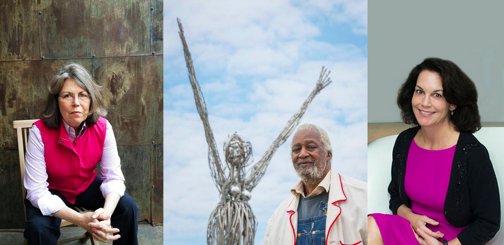 Terrell James, Jesse Lott, and Poppi Georges Massey. Photos by Ashley MacLean, Houston ISD, and Emile Browne via ALH.