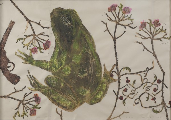 Mersky.Frog with Clematis