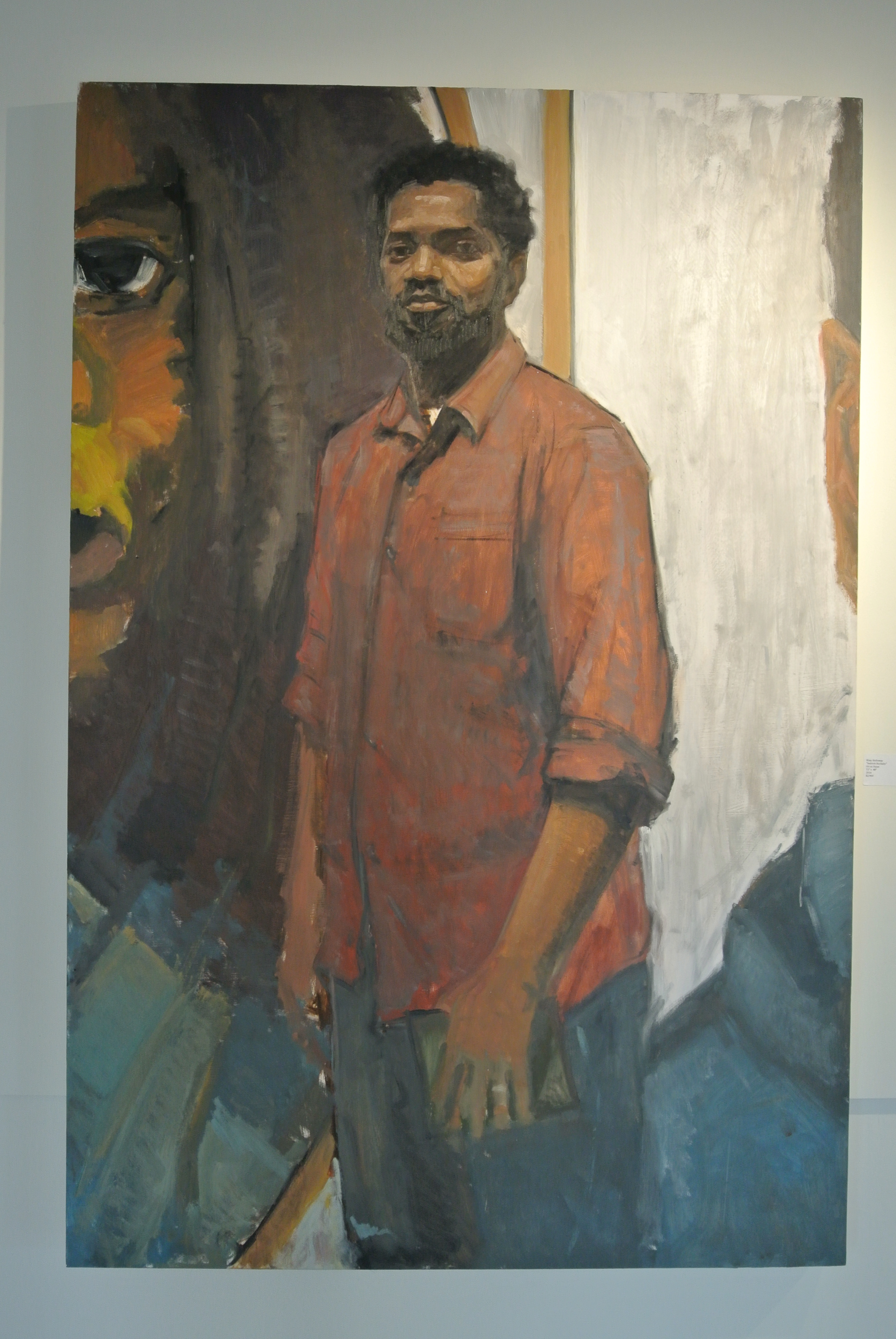 """Sedrick Huckaby, 2016, oil on panel, 72"""" x 48"""""""