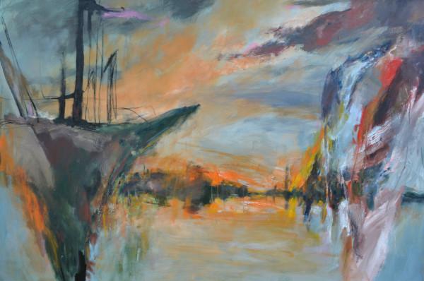 """Winter Rusiloski, Fractured Vessel, oil on canvas, 48x72"""""""