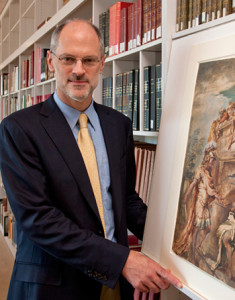 Jonathan Bober in the prints and drawings study room at the National Gallery of Art, Washington. Photo by Division of Imaging and Visual Services.