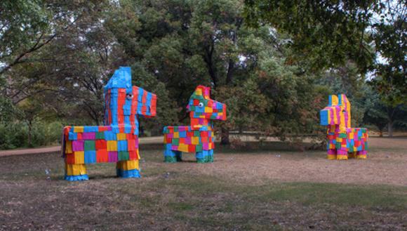 Las Pinatas by David Goujon, photo by Philip Rogers via austintexas.gov