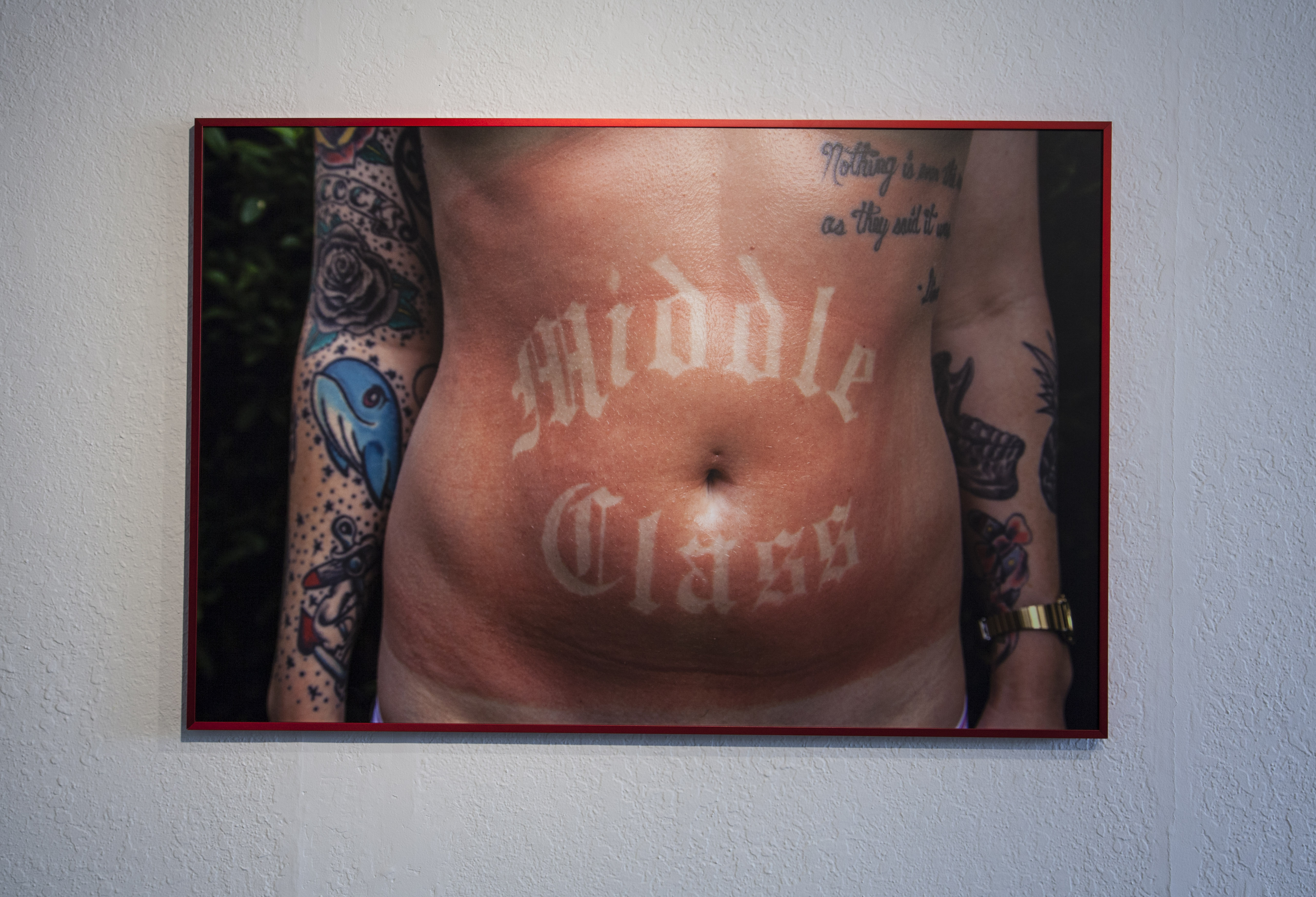 Your Middle Class Is Showing (middle class), 2016. Archival inkjet print mounted on aluminum.