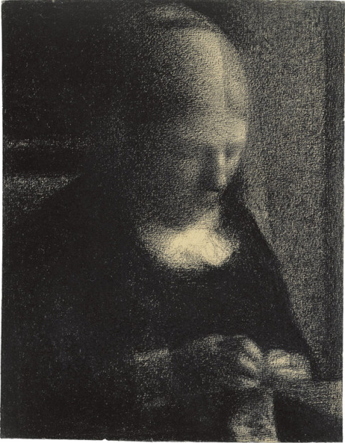 Georges Seurat, Embroidery (The Artist's Mother), 1882–83