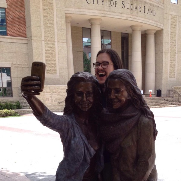 brandon sugar land selfie statue