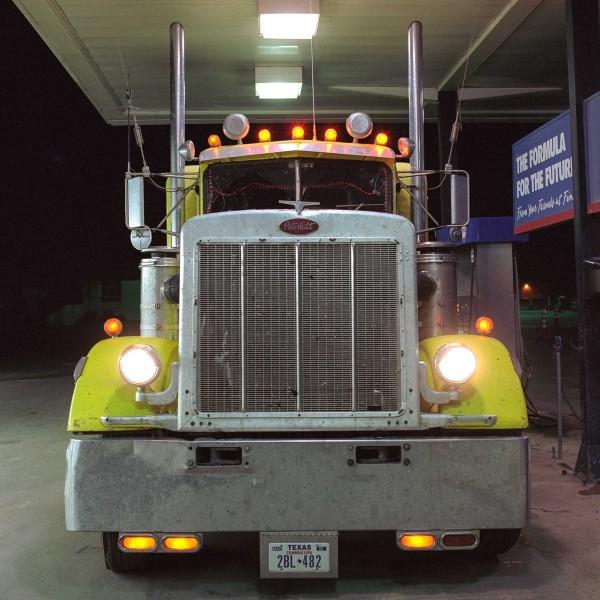 Peterbilt in Post, Texas, 2016 Digital photograph 40 x 40 in.