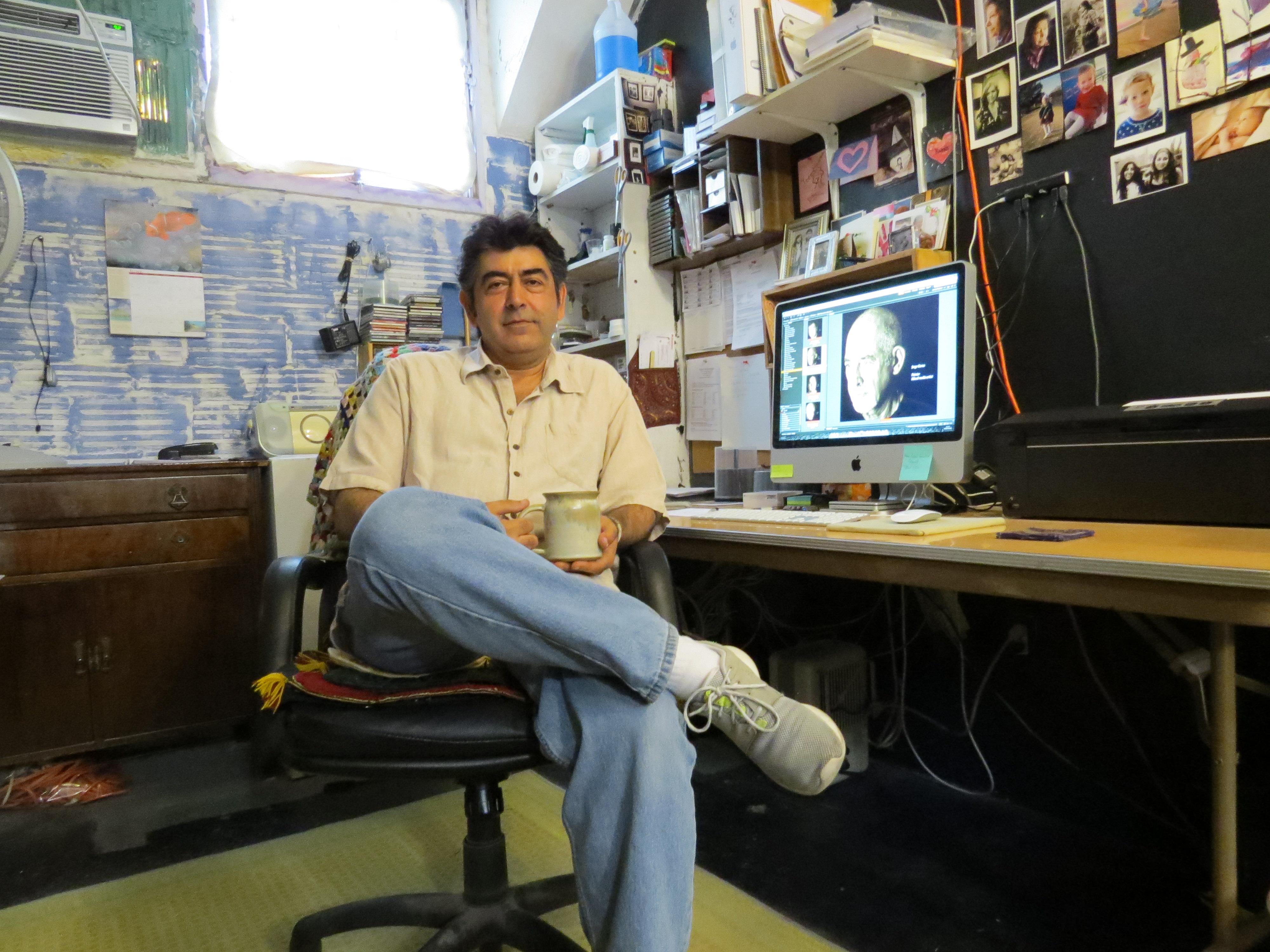Ramin Samandari in his studio. Photo: David S. Rubin
