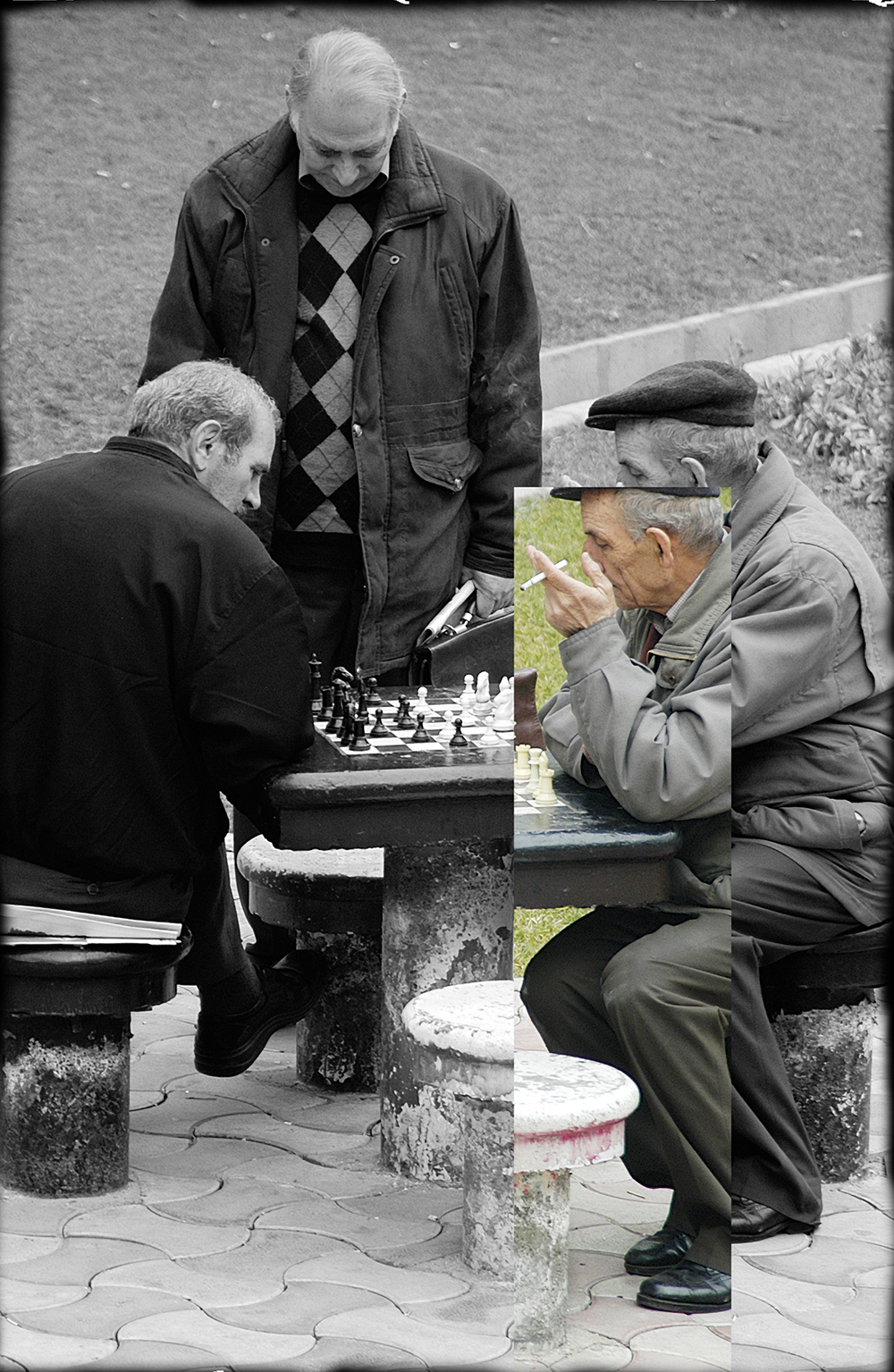 Chess Game in the Park, 2005, digital print, 20 x 14 in.