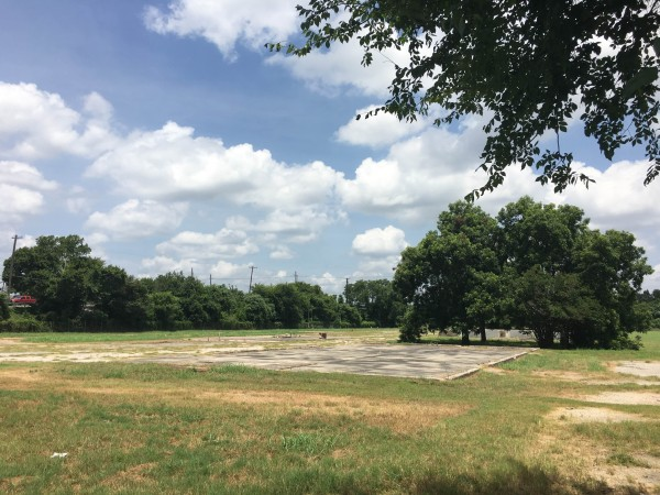 This vacant lot, located at the intersection of Airport Blvd and Springdale Rd, is one of the proposed sites for creating a new art hub called thinkEAST.