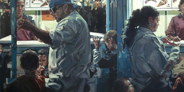 "chubirka, carni_grab9, acrylic on canvas, 20"" x 30"""