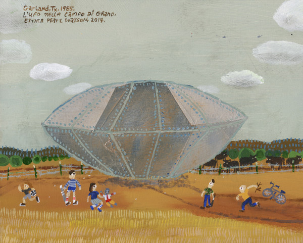 Esther Pearl Watson, L'UFO Nella Campo Di Grano, 2014