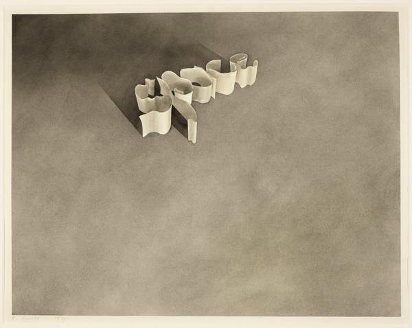 Edward Ruscha Space, 1971