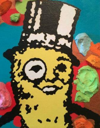 Clark V. Fox, Mr. Peanut, oil on canvas