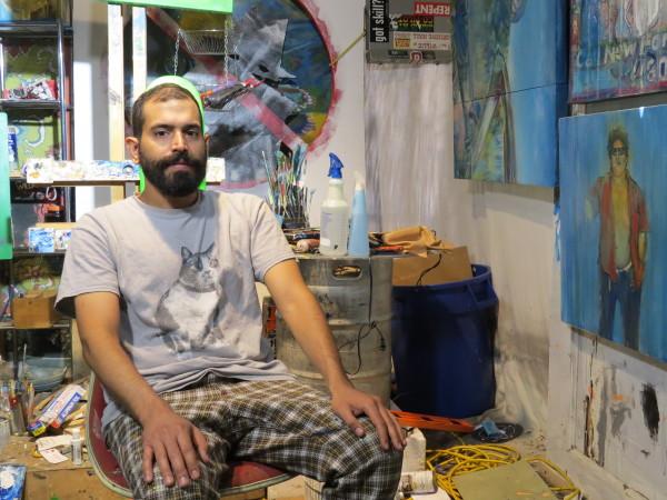 Ed Saavedra in his studio.