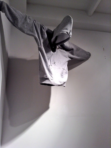 """Don't Leave Nothing in Your Clothes, 2014, mixed media, dimensions variable (from """"They said we looked suspicious...,"""" collaborative project with Justin Parr"""