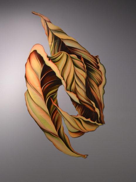 Untitled (Leaf Series), 1979, oil on canvas