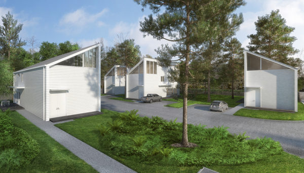 A rendering of NoLo Studios at Acres Homes