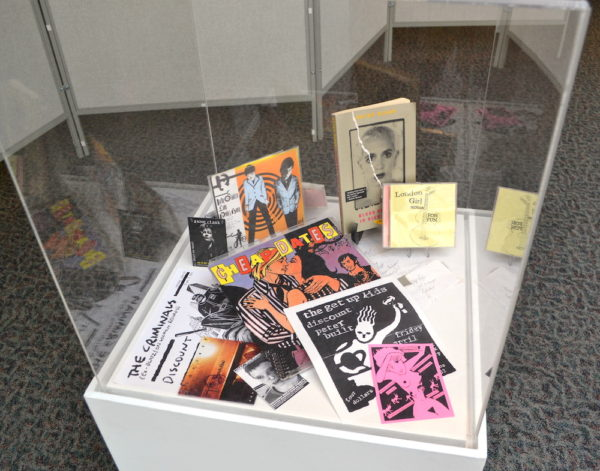 Part of the Women in Punk exhibit