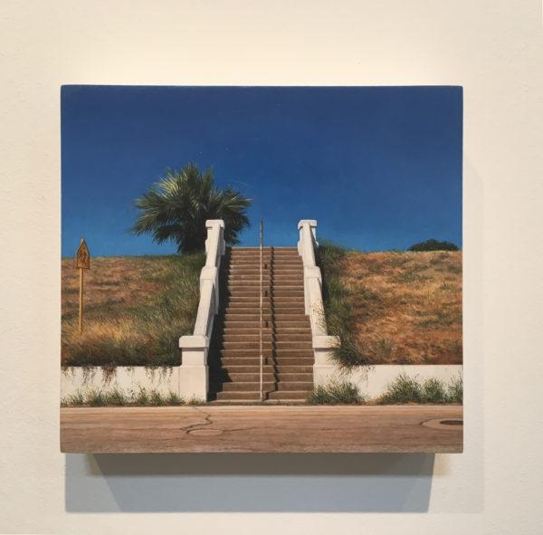Stairway, 1996. Oil on wood.