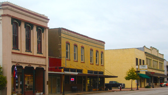 """Brenham-Washington County Texas, Downtown Brenham, Colorful Architecture"""
