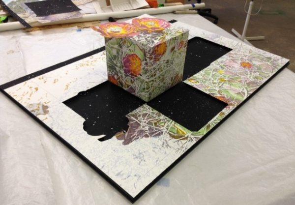 "Cactus Garden, Jim Malone, 9 x 27 x 40"", Paper, foam core"
