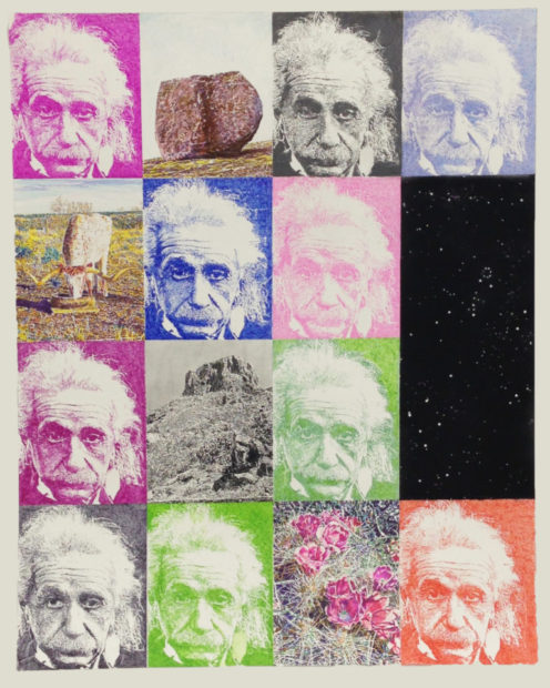 """Einstein on the Ranch, Jim Malone, 40 x 32"""", Mixed media"""