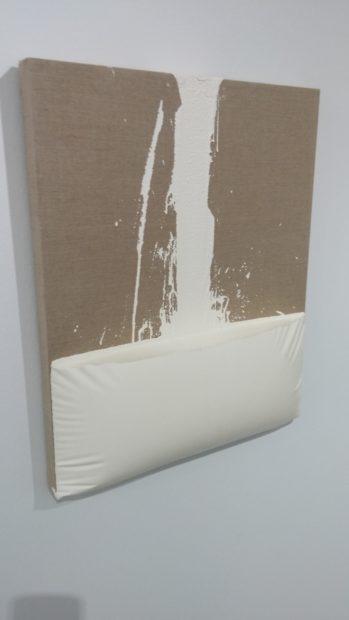 Decant (White), encaustic paint on canvas, 2011
