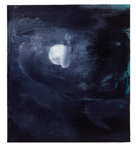 Silent Movie Moon, 2016, oil on linen, 20 x 18 in.