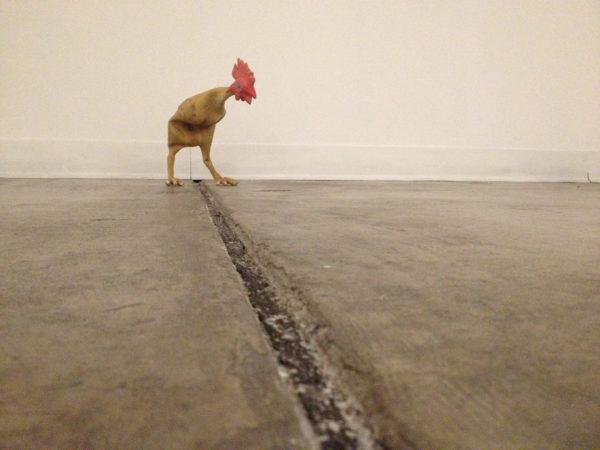 Chichen 2015, rubber chicken, steel wire & thread